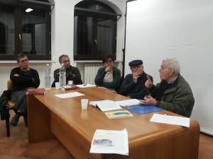 Roma, 27 ottobre 2014 - Da sinistra nella foto: Renate Goergen, Saverio Ciaccio, Stefania Ficacci, Giacomo Schettini, Michele Padula.